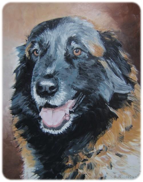Portrait de TAMARA par peintre animalier